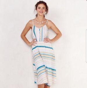 Lauren Conrad Midi Dress Athen's Print